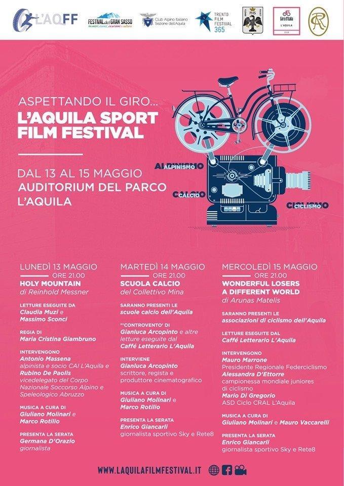 programma - L'AQUILA FILM FESTIVAL: Tre giornate dedicate al ciclismo - programma